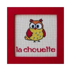 Chouette mouton rouge broderie
