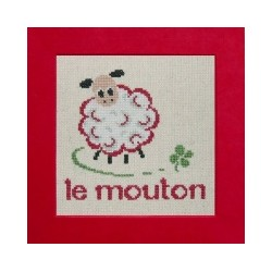 mouton mouton rouge broderie