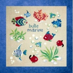 Bulle marine mouton rouge broderie