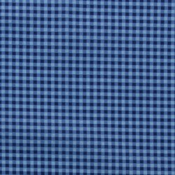 Tissu Frou-frou vichy Bleu Intense