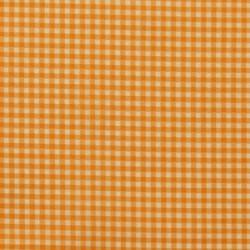 Tissu Frou-frou vichy Mandarine
