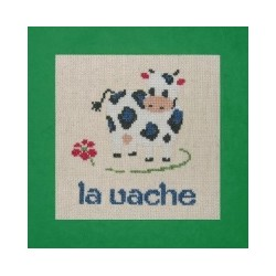 Vache mouton rouge broderie