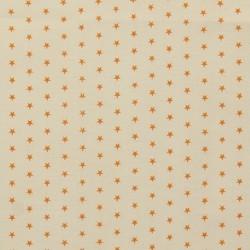 Tissu Frou-frou Etoile Mandarine