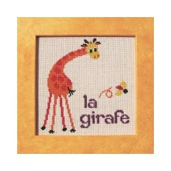 Girafe mouton rouge broderie