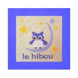 hibou mouton rouge broderie