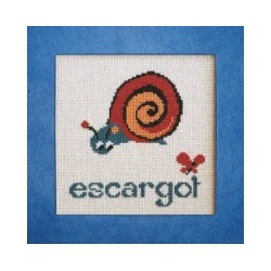 escargot mouton rouge broderie