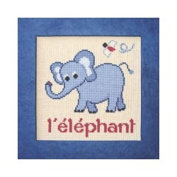 éléphant mouton rouge broderie