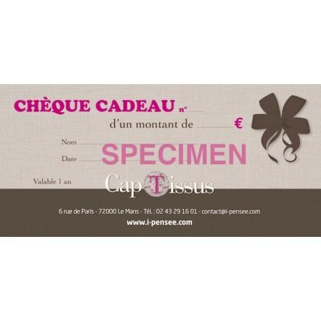 CHEQUE CADEAU CAP TISSUS