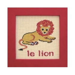Lion mouton rouge broderie