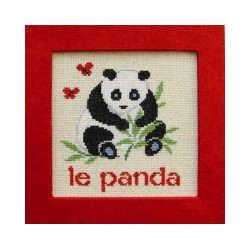 panda mouton rouge broderie