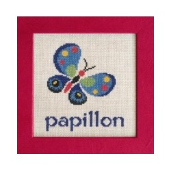 Papillon mouton rouge broderie
