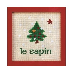 sapin noël mouton rouge broderie