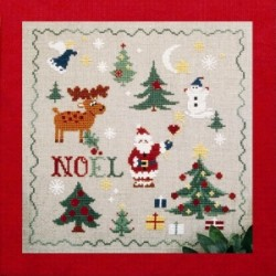 noël mouton rouge broderie