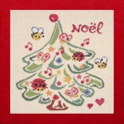noël coccinelle mouton rouge broderie