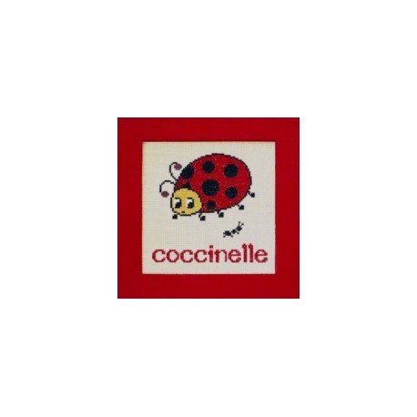 coccinelle mouton rouge broderie