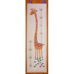 Toise Girafe mouton rouge broderie